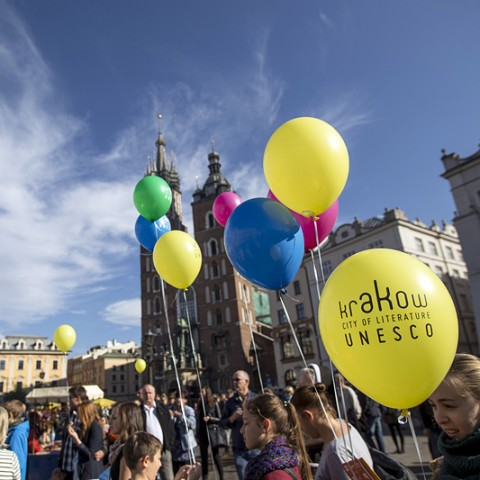 Krakow is celebrating one year anniversary as a member of the Cities of Literature Network, pic. Tomasz Wiech